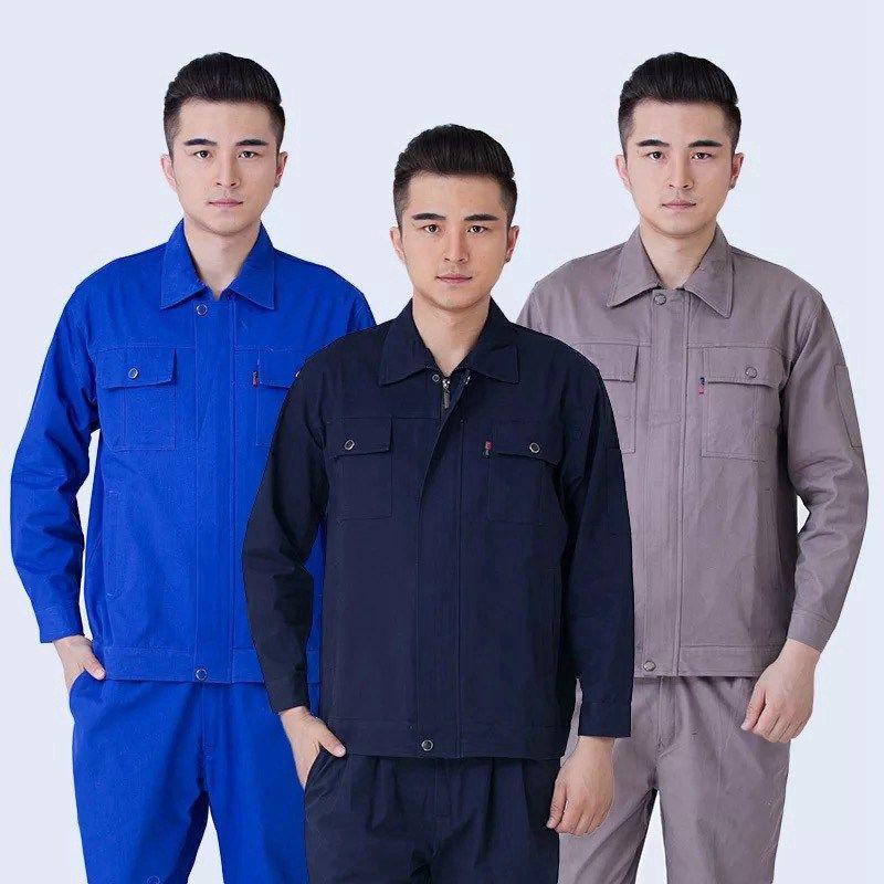 薄款透气短袖工作服套装耐磨工作服