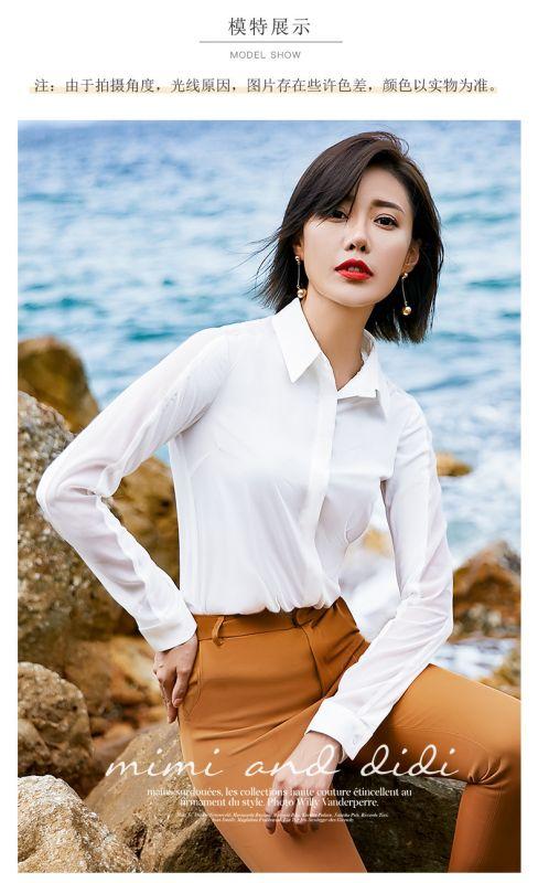 纯棉衬衫女士职业装正装商务OL东莞工作服