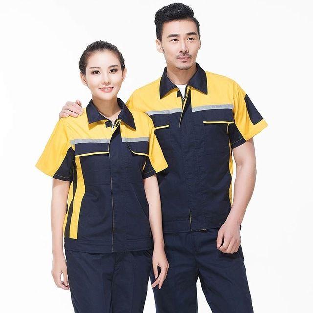 男短袖夏季长袖 机械汽修劳保服电焊纯棉工程服工装定制