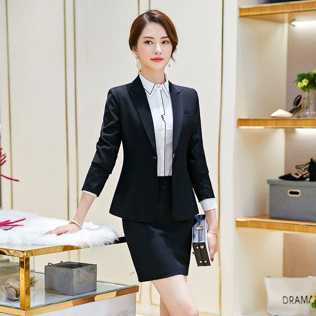 女商务白领行政办公人员气质工作服西装正装