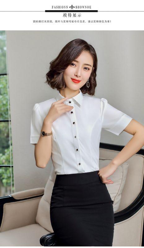 2019夏季新款蝴蝶结打底衬衣OL东莞工作服韩版
