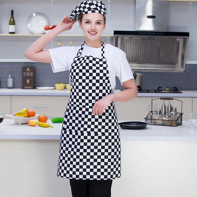 男女新款 围裙挂脖 中长款围裙 厨房防油经脏防水围裙饭店服务员食堂