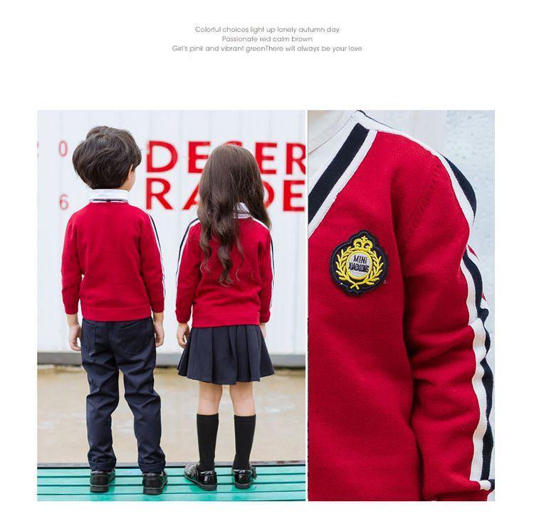 秋季新款幼儿园园服 春秋装套装小学生班服 英伦风三件套校服学院风