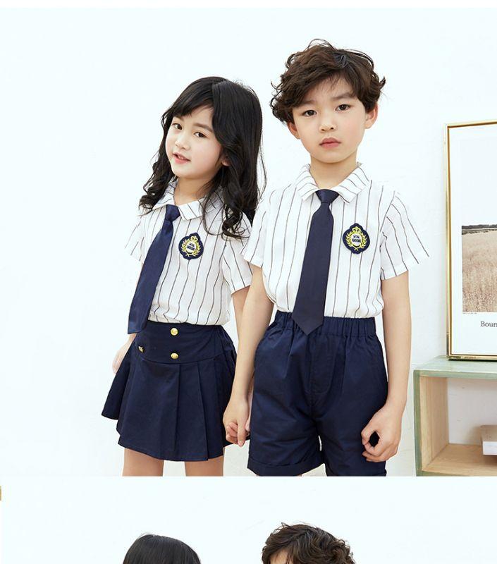 夏季幼儿园园服 英伦风夏装小学生校服套装 男女儿童纯棉班服学院风