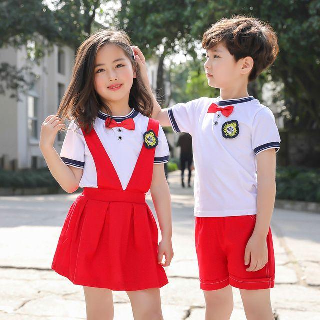 夏季幼儿园园服 纯棉夏装小学生校服 英伦风套装儿童班服时尚学院风