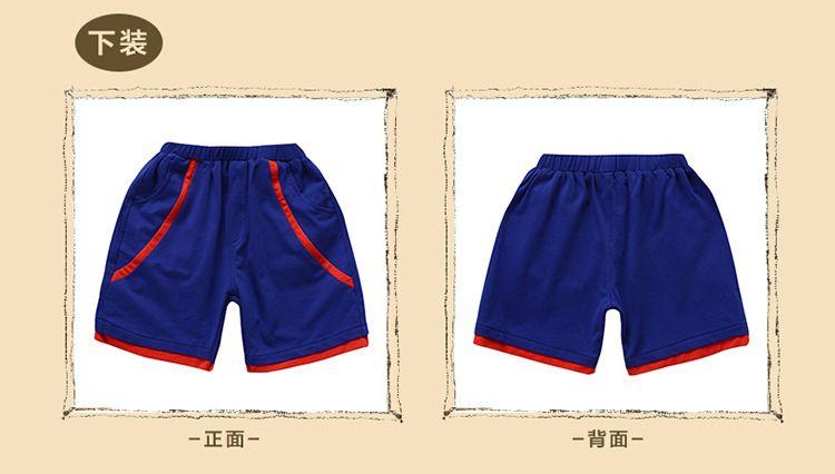 新款幼儿园园服 夏装小学生校服短袖夏季 男女儿童班服纯棉运动套装