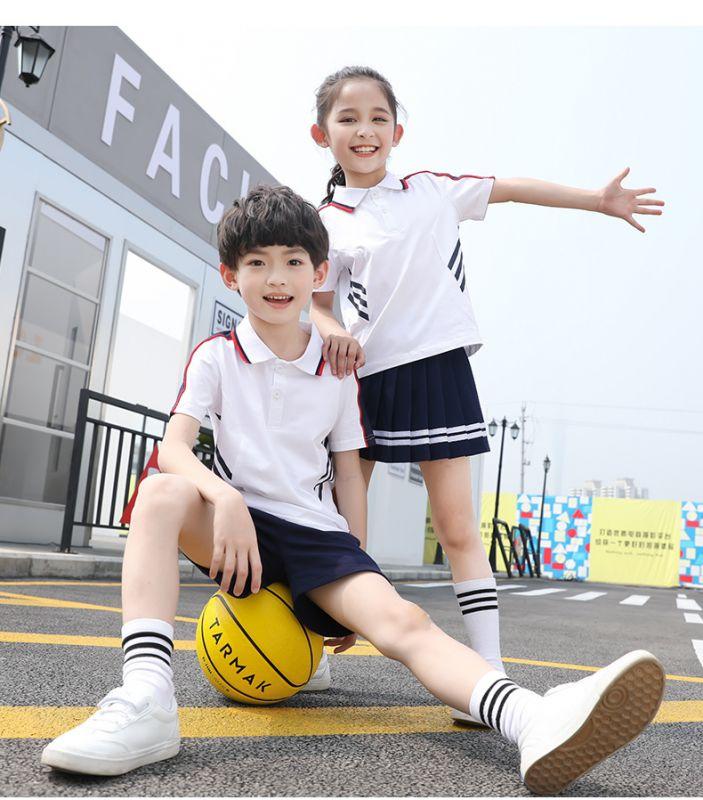 新款夏季幼儿园园服夏装 儿童班服纯棉短袖套装 小学生校服运动班服