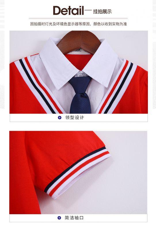 夏季幼儿园园服夏装 小学生校服纯棉短袖运动装 儿童班服套装学院风