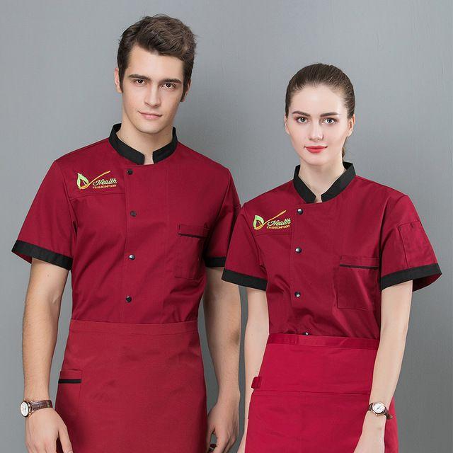 厨师服短袖夏装 酒店餐厅饭店烧烤蛋糕烘焙餐饮学校男女后厨工作服