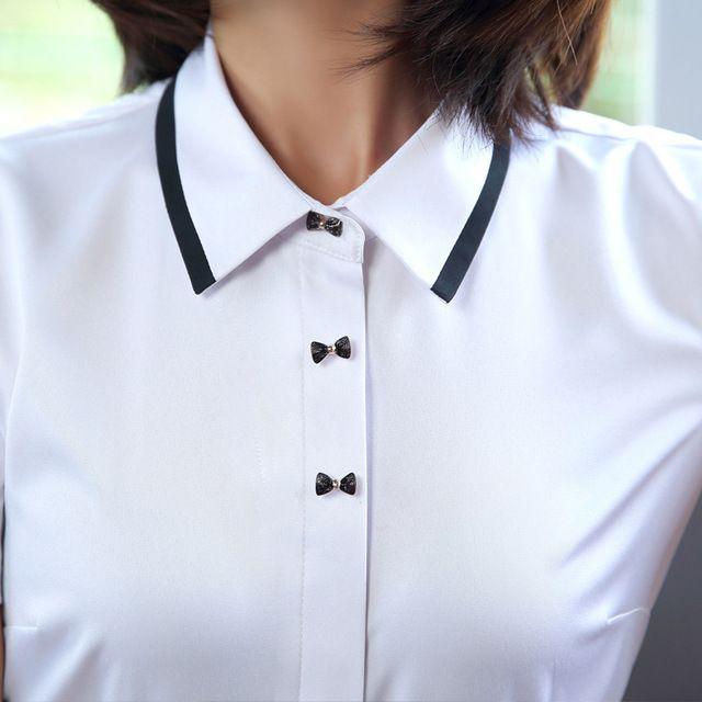 春夏新款韩版职业套装女装套裙白色短袖衬衫女时尚工作服正装套裙