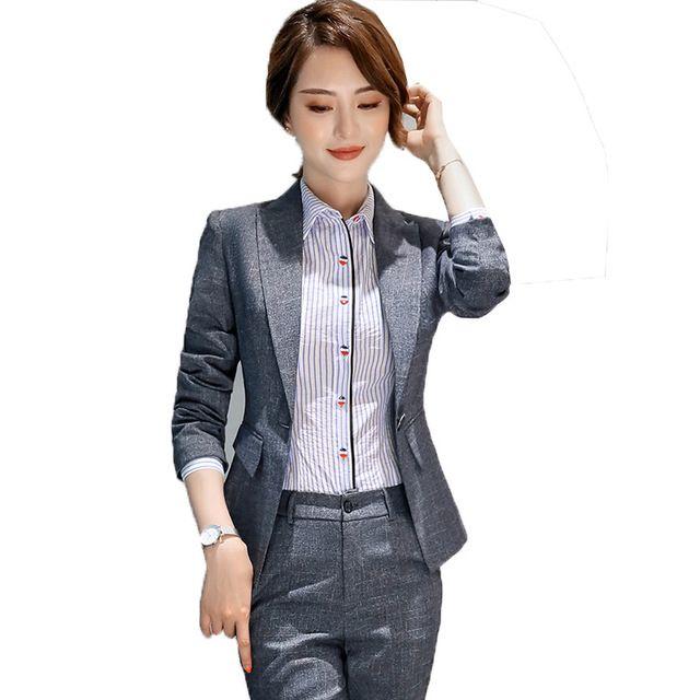 秋冬新款修身显瘦女士小西服长袖休闲气质百搭小西装职业套装