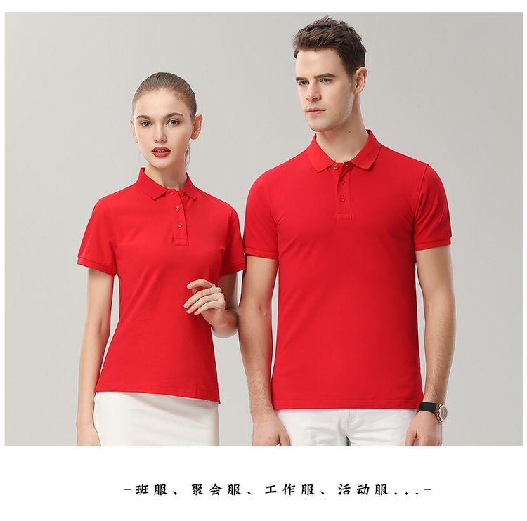 polo衫定制文化广告衫 同学聚会衣服定做 班服短袖t恤印字logo 刺绣